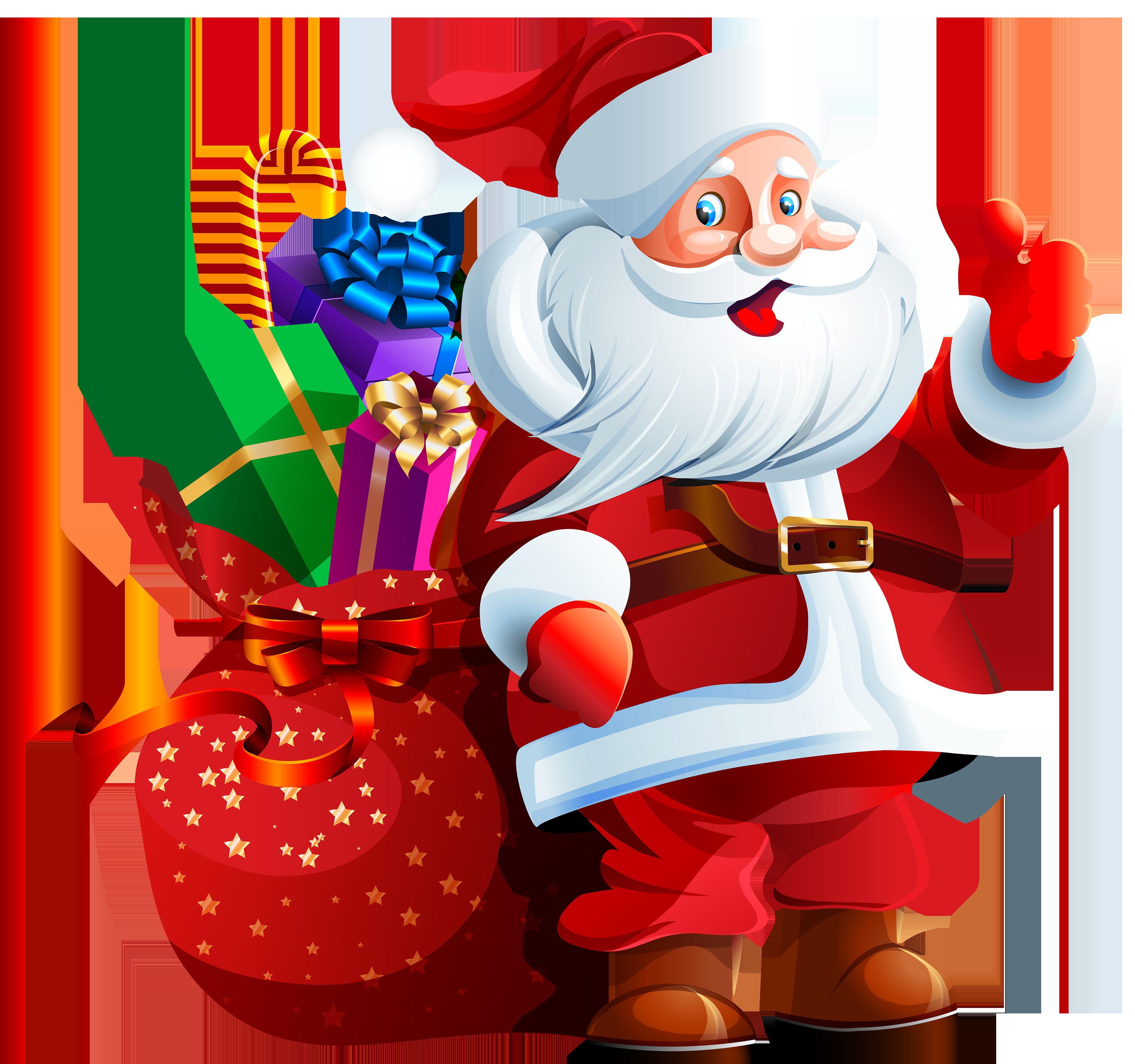 Santa Claus with Big Bag PNG Clipart Santa claus images