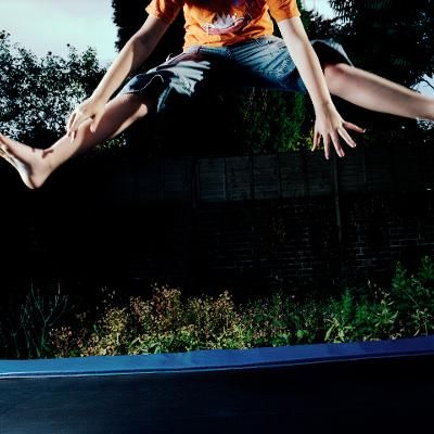 Health: Jumping Up and Down Is Ridiculously Good Exercise The mini trampoline workout is better than running biking and ultimate Frisbee a new study finds