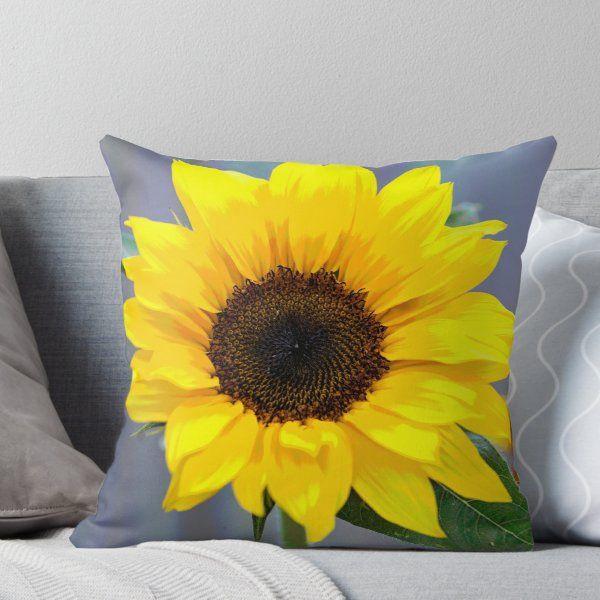 Happy Sunflower | Throw Pillow #sunflowerbedroomideas