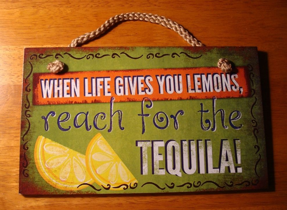 Bar Decor Signs Funny Tiki Bar Signs  Gives You Lemons Reach For The Tequila