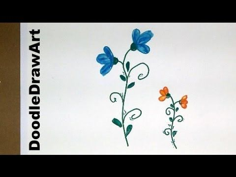 Drawing how to draw flowers step by step easy cartoon for Easy flowers to draw for beginners step by step