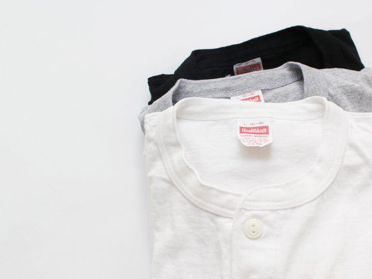 Healthknit (ヘルスニット)Henley Neck Long sleeve T-shirts(長袖)/906L