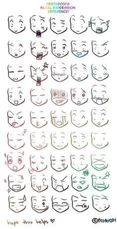 Photo of A reference on drawing chibi faces :3