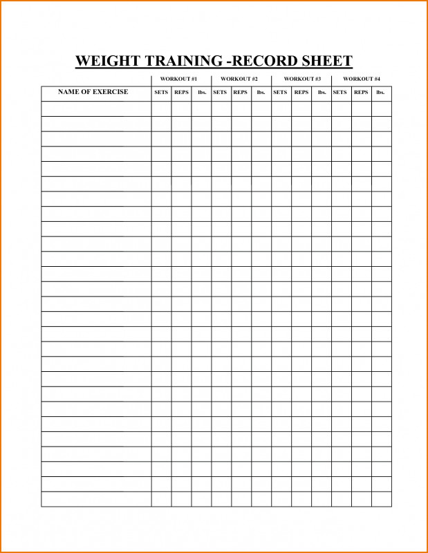 Blank Workout Schedule Template Unique Free Printable Exercise Chart Templates Teplates For Every Day Workout Chart Workout Plan Template Workout Schedule