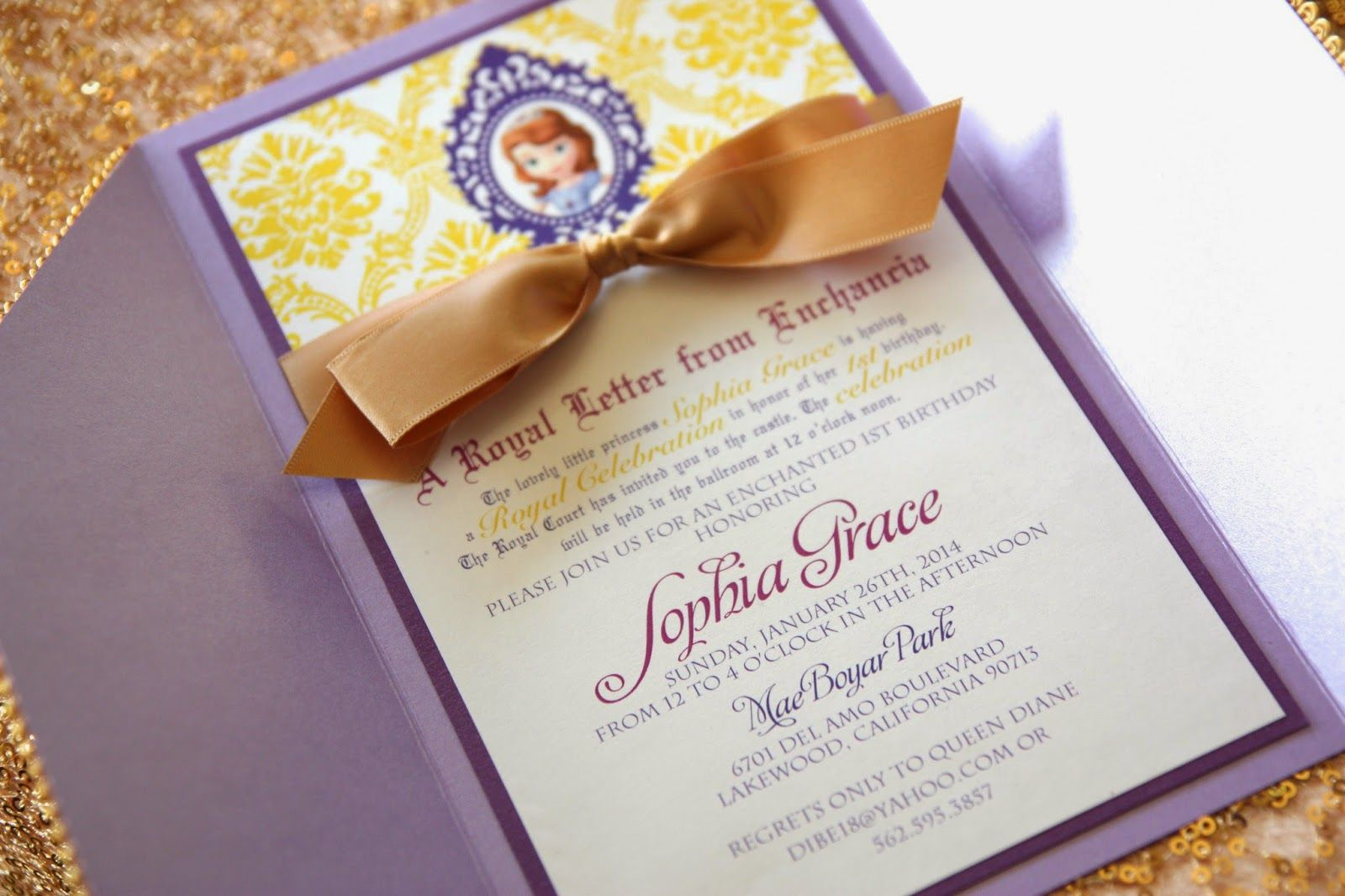 sofia the first invitations etsy - Google Search | My Princess ...