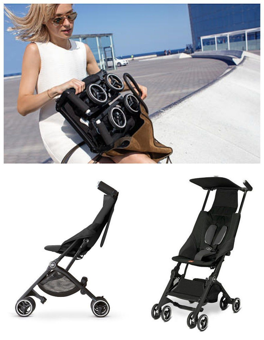 This stroller that folds up small enough to