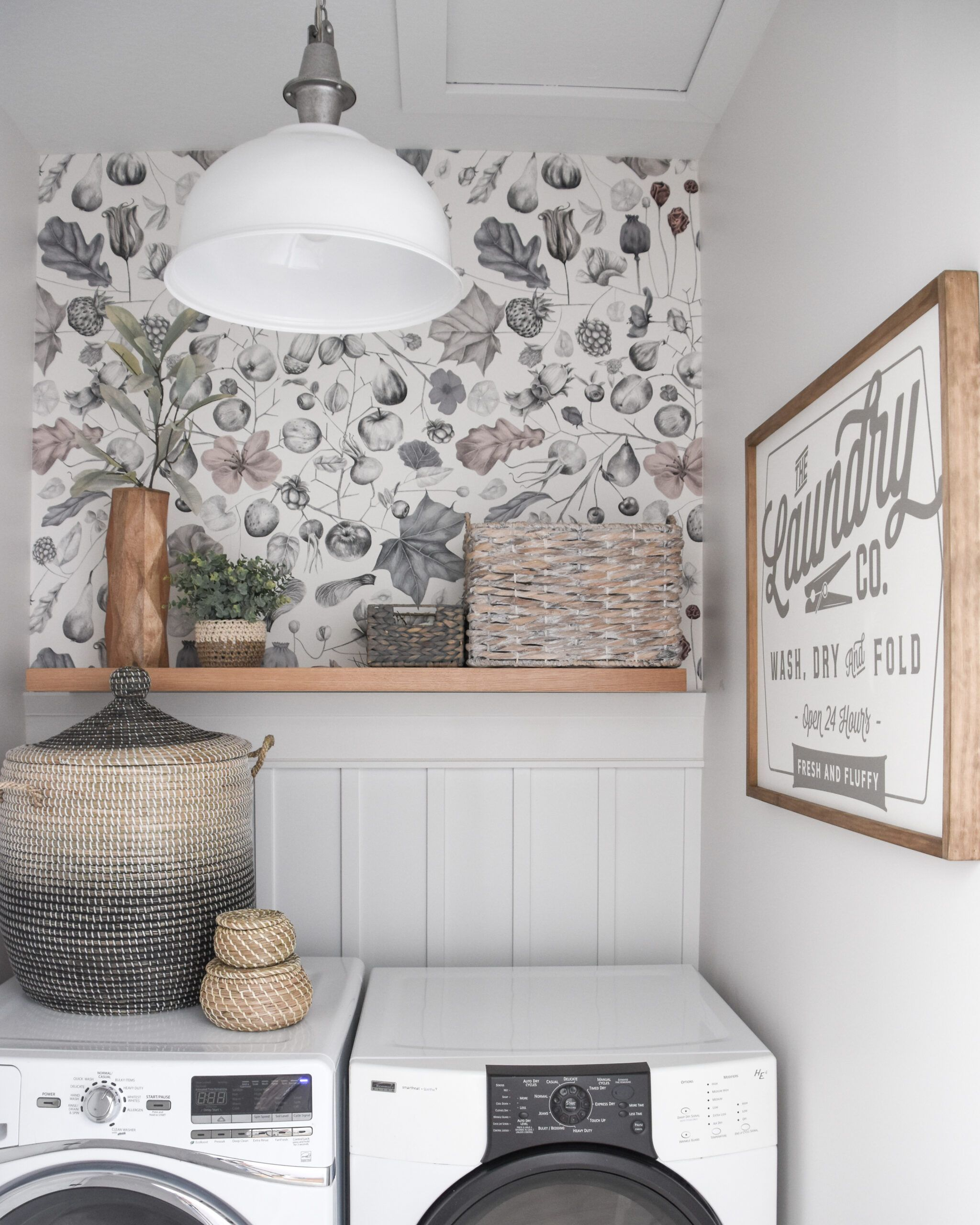 Small Laundry Room Makeover Start At Home Decor Small Laundry Room Makeover Laundry Room Wallpaper Laundry Room Makeover