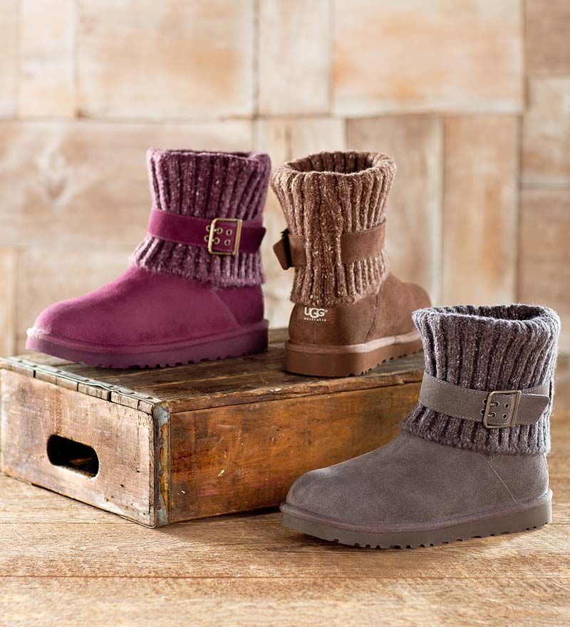 965478942da UGG® Australia Cambridge Boots has a fold-over sweater knit collar with  adjustable buckle for a great look.