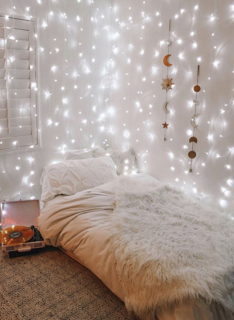 Fairy Lights Small Room Bedroom Dorm Room Decor Dorm Room Inspiration