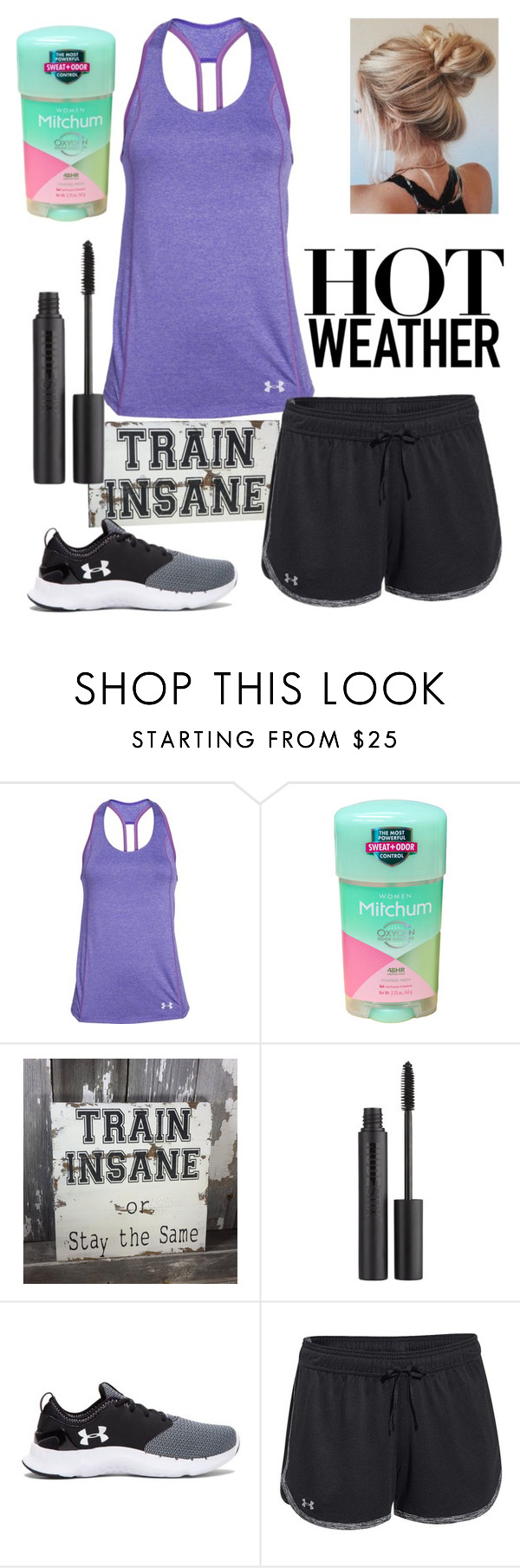 """JROTC Training"" by emmy-awards ❤ liked on Polyvore featuring Under Armour and Nudestix"