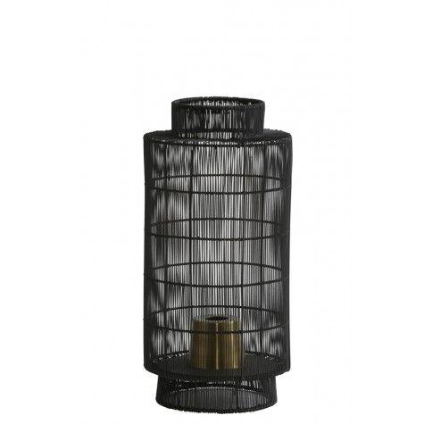 SOFORT LIEFERBAR Tischleuchte Laterne GUERRO Ø24x52 Draht Bronze schwarz - schlichte und moderne und auffallende Tischlampe von Lightmakers im Indutrielook aus Metall. Ein matt schwarzer und bronzefarbener runder offener Lampenschirm erzeugt wohliges Ambiente. Vortrefflich eignet sich diese Tischleuchte in einer Lounge, im Wohnzimmer oder als stimmungsbringnde Beleuchtung in allen Wohnbereichen. Ihre klare Formensprache passt sich gut verschiedenen Stilrichtungen an. Passende Leuchtmittel…