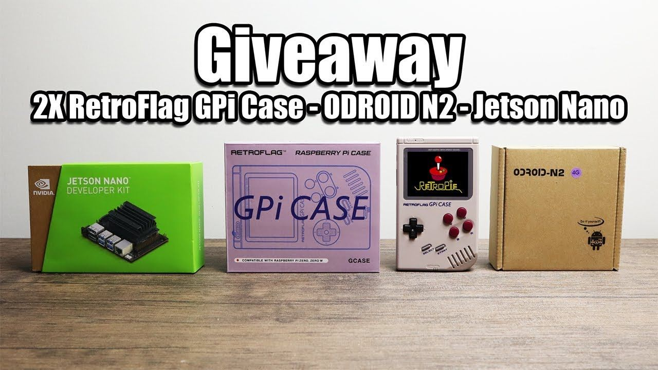 Giveaway - Retro Flag GPi Case - ODROID N2 - Jetson Nano - YouTube