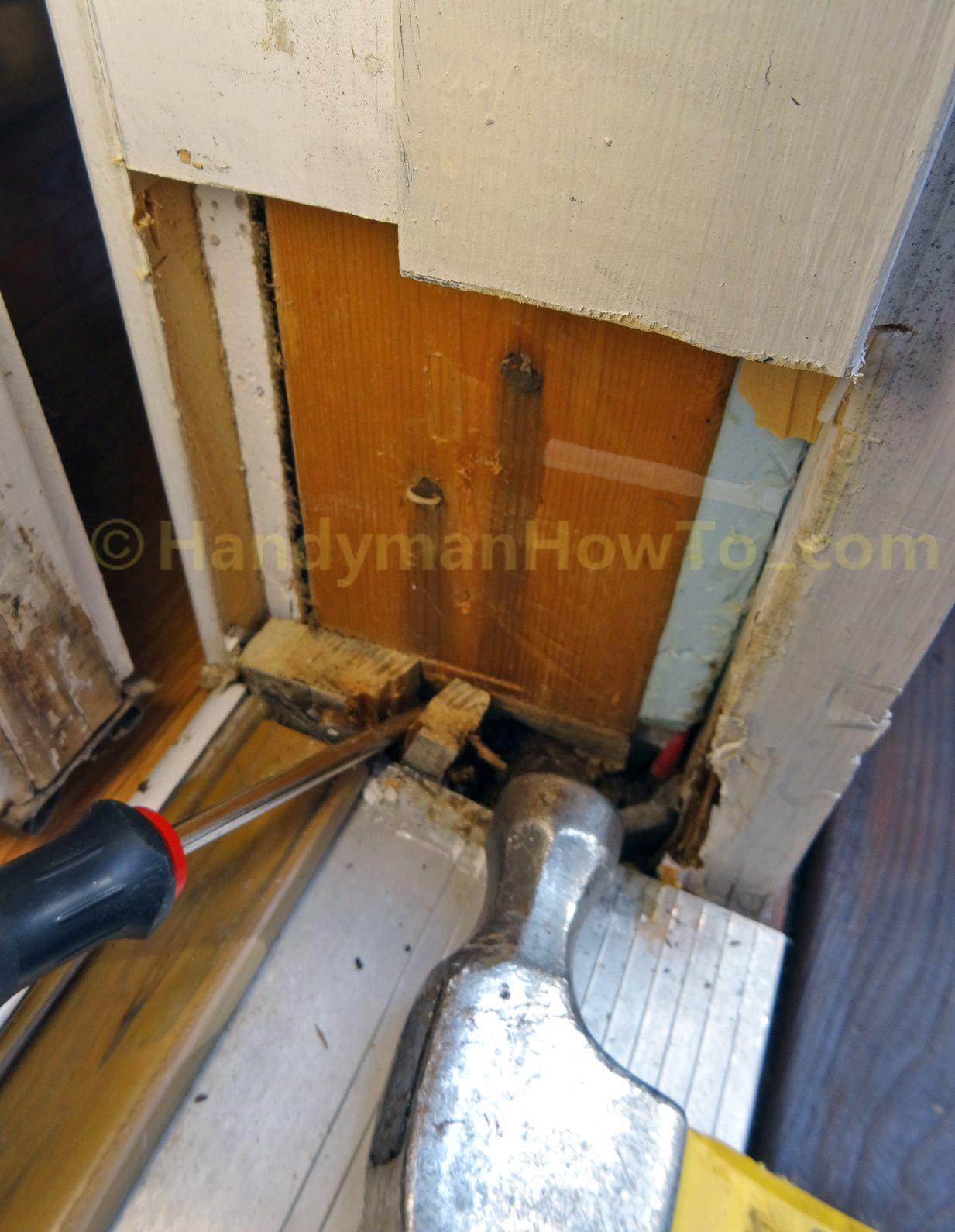 Exterior Door Frame Repair Split And Remove Wood
