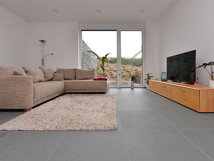 Carrelage sol et mur anthracite effet béton Time l75 x L75 cm