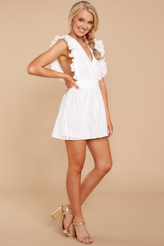 95790de5d40 Adorable White Eyelet Romper - Chic White Romper - Romper -  49.00 – Red Dress  Boutique