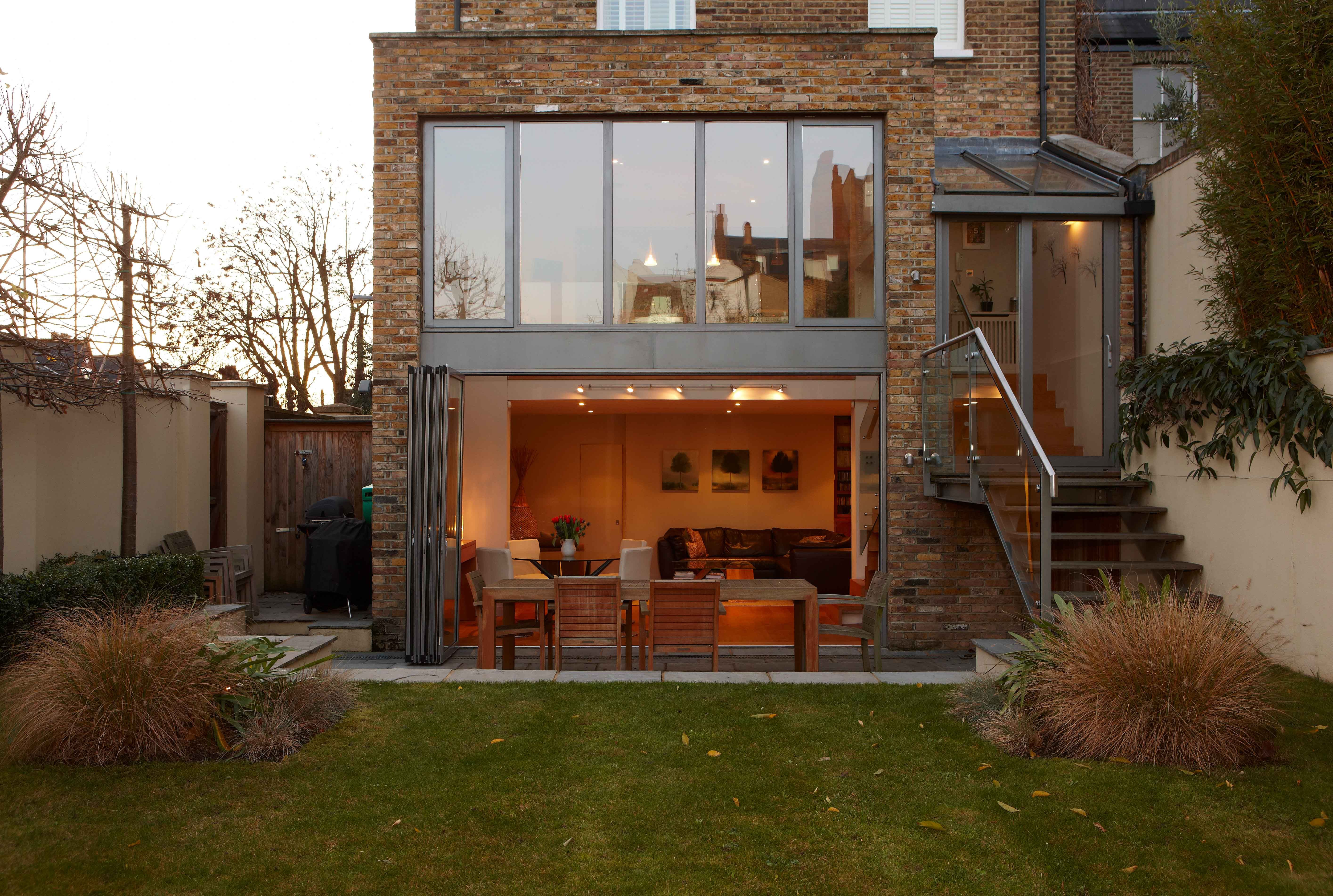 Two Story Home Extension With Bi Folding Doors Artchitecture Extension House Btl Buytolet Home Extension Ideas Pinned By Www Btl Direct Com House Extensions