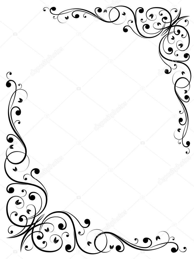 Padrao De Quadro Abstrato Floral Grunge Vector Arabescos Para