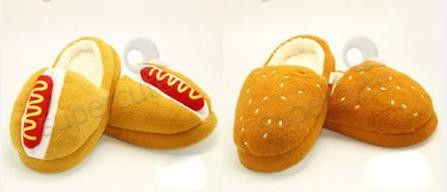 Hot dog slippers
