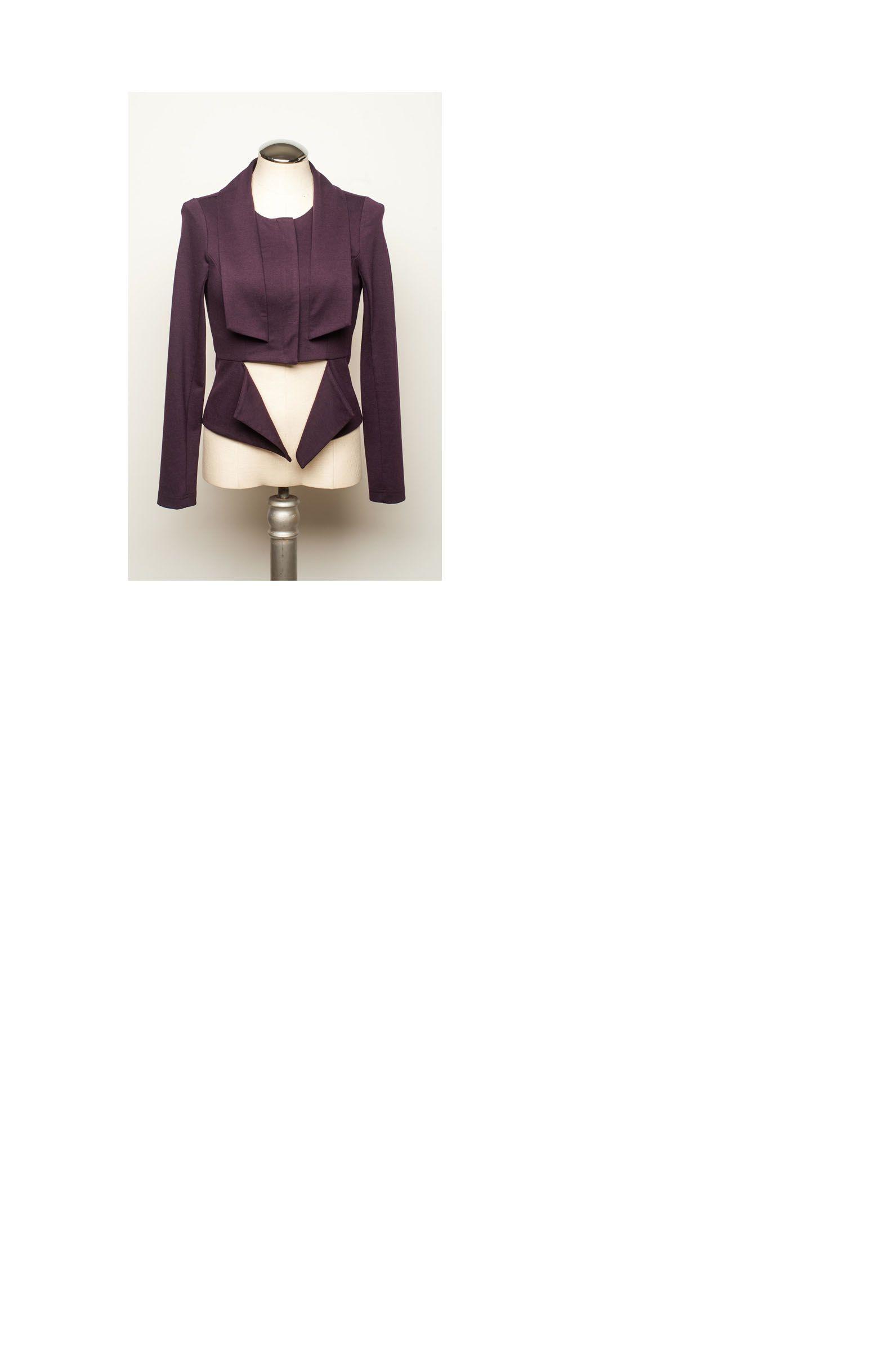 Ferhn Scuba Jacket in Plum looks great on circle shapes! @shopgirls