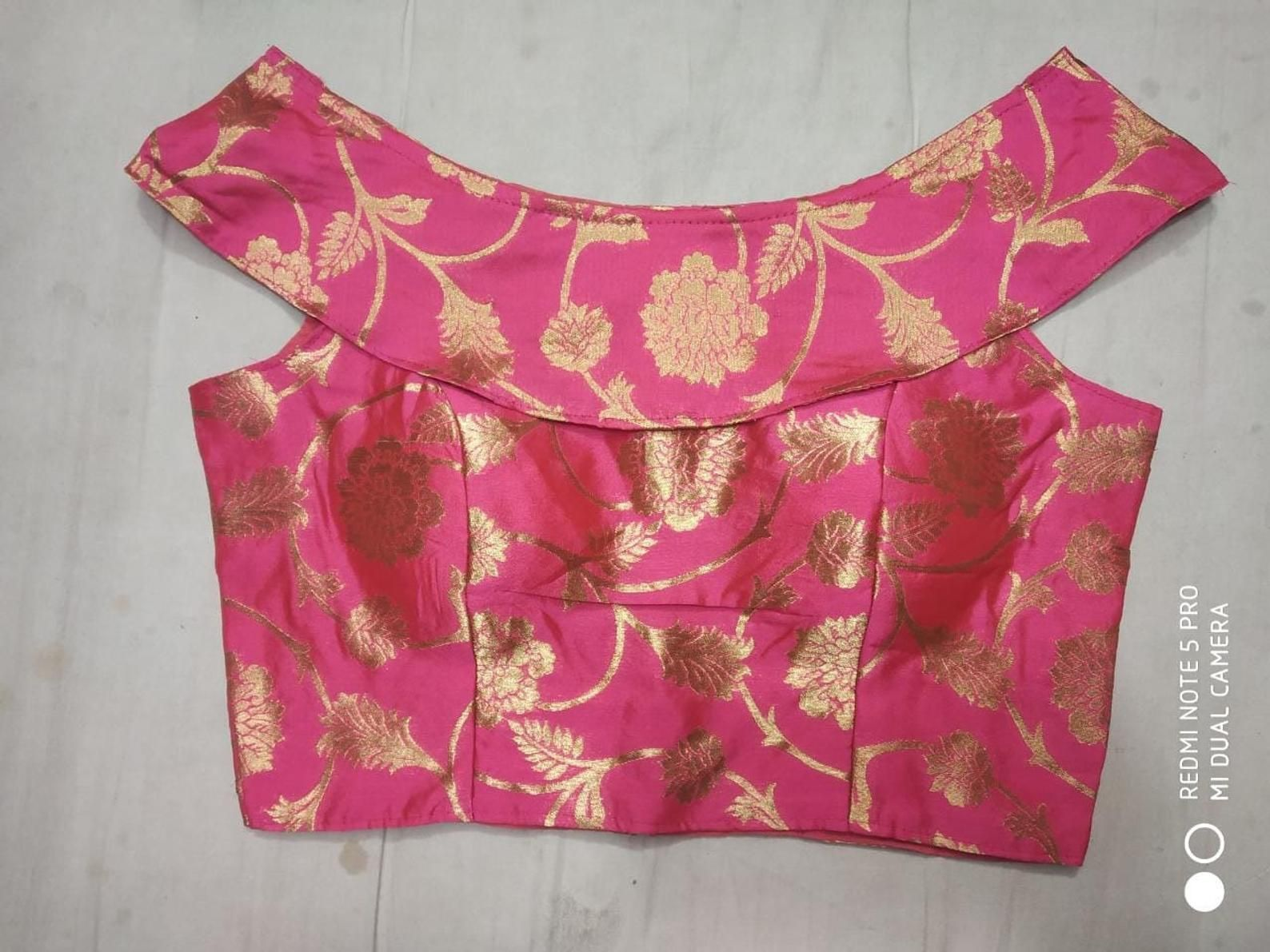 indian Saree  with stitched blouse sari readymade blouse39