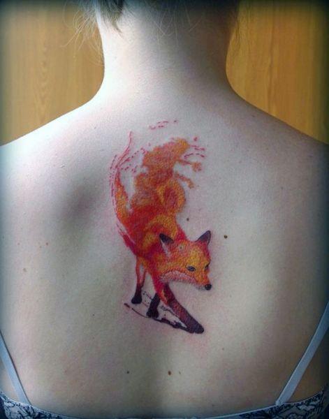 Tatuaże Damskie Lis Na Plecach Tattoos Tatuaże Tatuaż I
