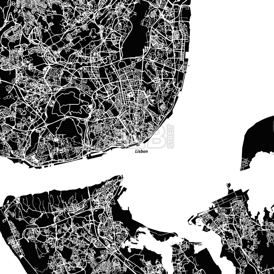 Lisbon area vector map lisbon area vector map hebstreits black background gumiabroncs Images
