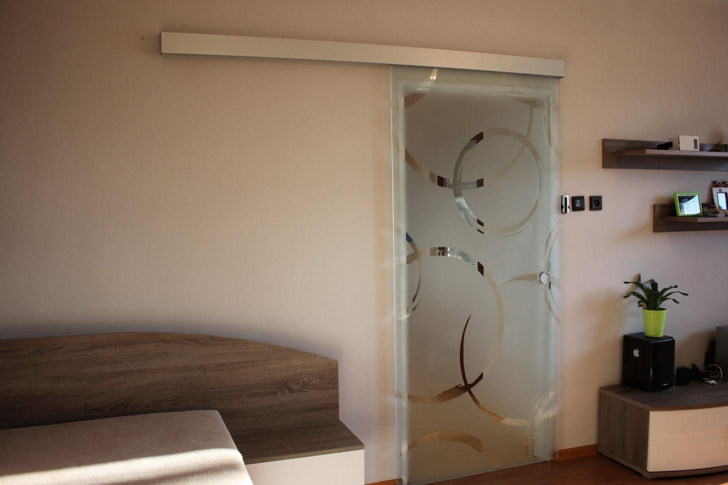 sklenené dvere pieskované GG-24