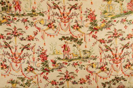 lin imprimé rideaux double rideaux   www.rideaux-couture.com ...