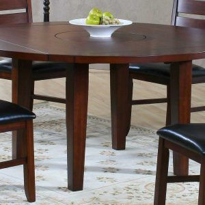 Round Drop Leaf Kitchen Table Set