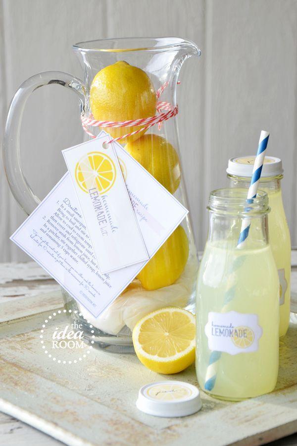 Machen Sie eine Limonade Kit Geschenkidee. Das ist so einfach, aber ...