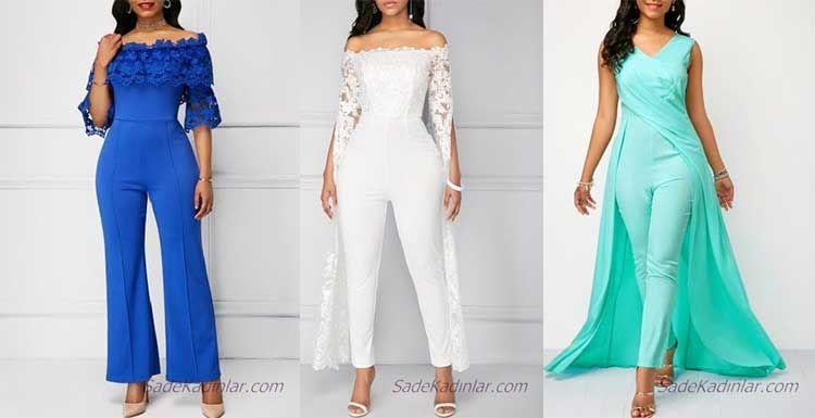 Unlu Modacilarin En Trend 2019 Abiye Tulum Modelleri Moda Stilleri Trendler Tulum