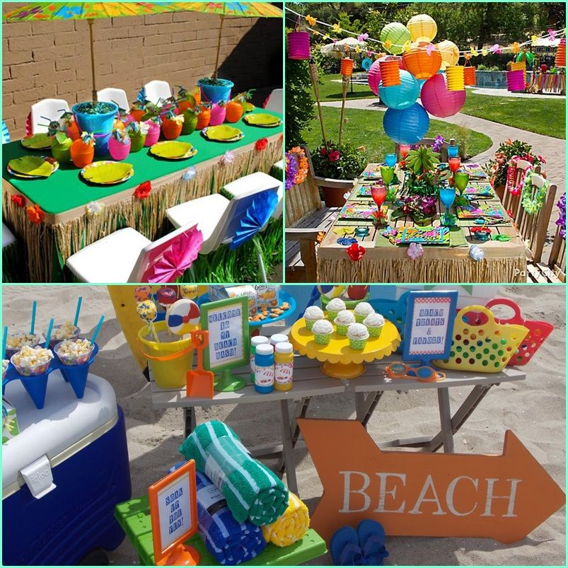 Beach Theme Party For Kids At AllHome