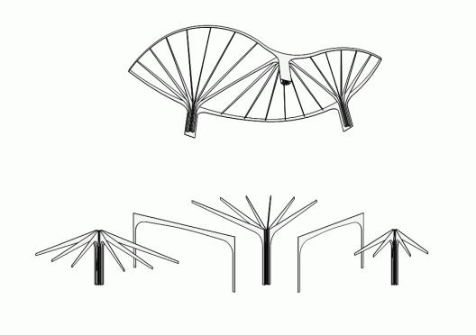 Leaf Structured Canopy Sam Architekten Und Partner 概念