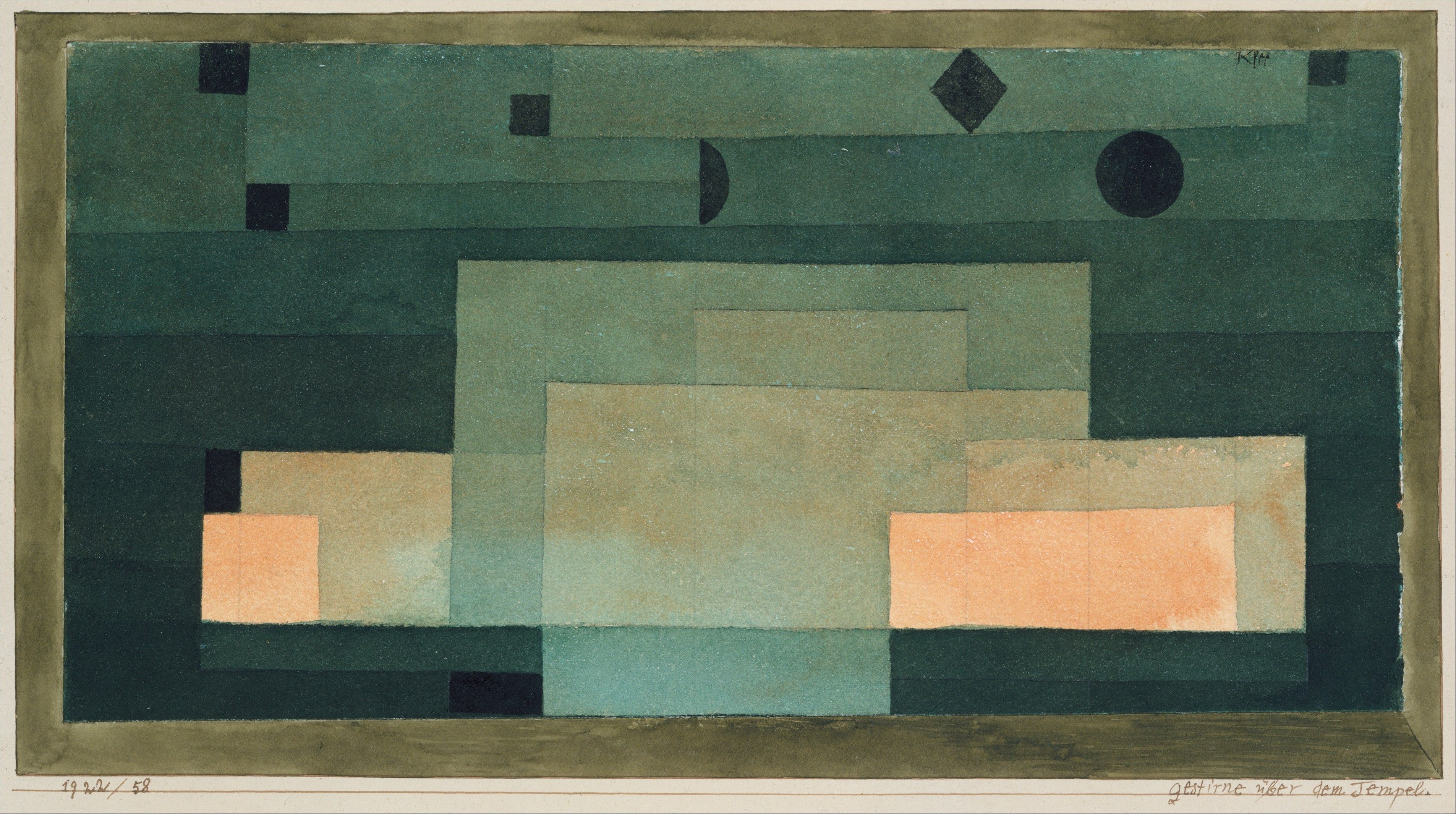 Paul Klee,  The Firmament Above the Temple