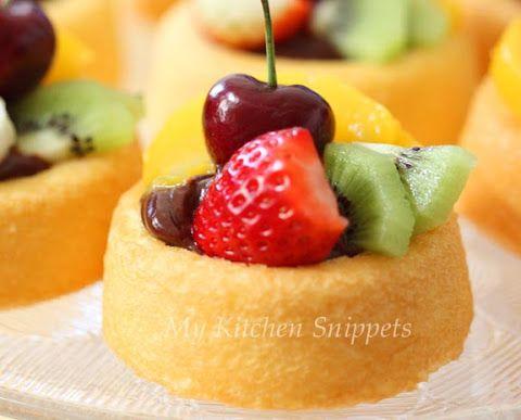 My Kitchen Snippets: Fruity Cake Tarts