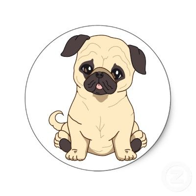 Pug Drawing By Pablo Fernandez Pug Cartoon Pugs Cute Drawings