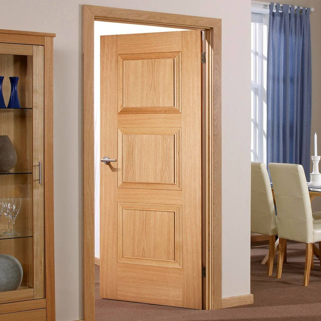 Fire Door Amsterdam 3 Panel Oak 1 2 Hour Fire Rated Prefinished Oak Fire Doors Fire Doors Oak Doors