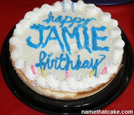 Happy Birthday Jamie Cake Birthday Cake Cake Birthday Cake