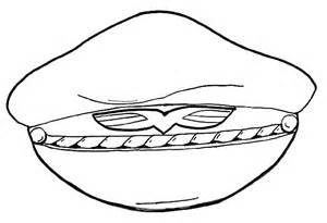 Pilot Hat Coloring Pages For Kids sketch template