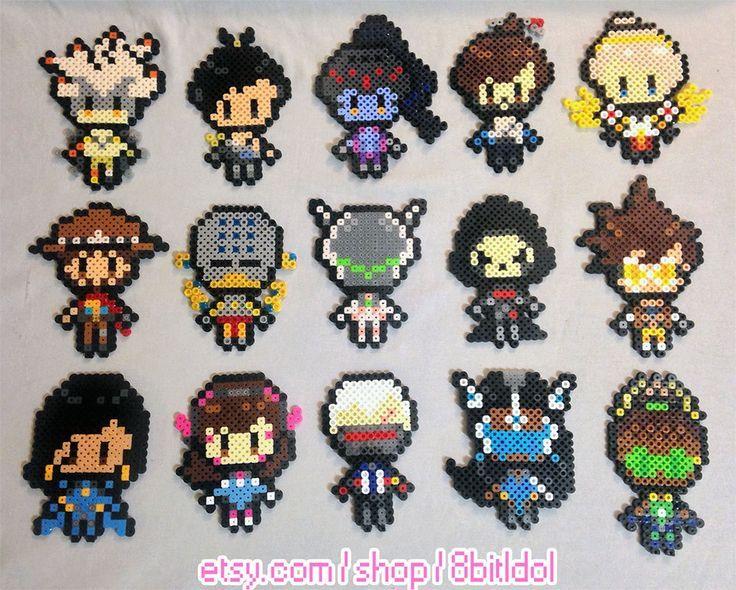 Overwatch Pixel Figure Perler Bead Sprite By 8bitIdol Beads