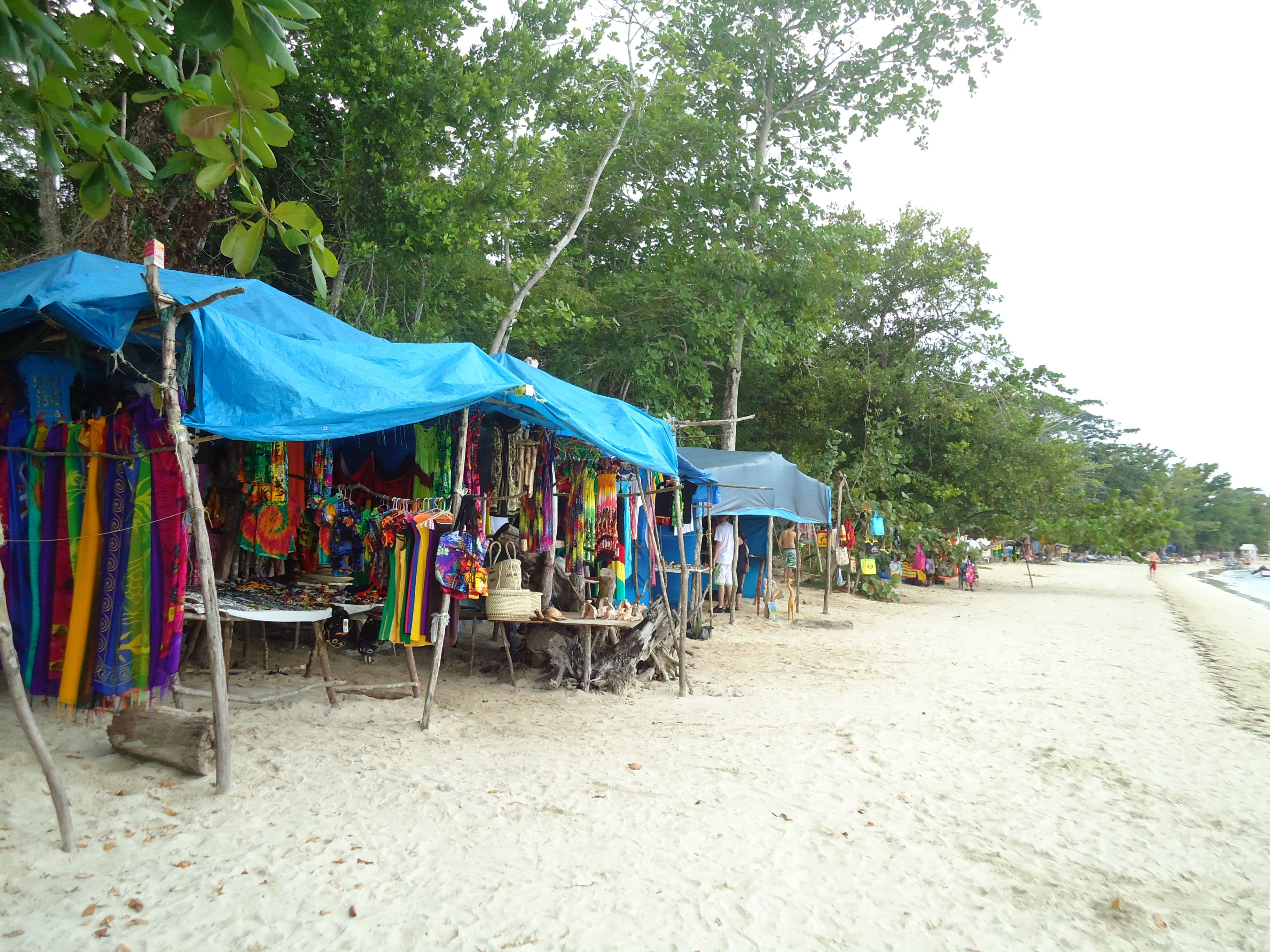 Merchants on the beach in Bloody Bay Negril Jamaica WI... Would kill ...