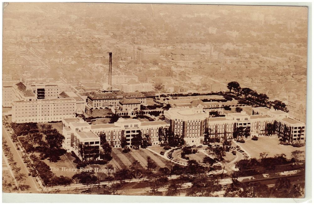 1937 Aerial View Of The Henry Ford Hospital Detroit Michigan