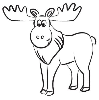 How To Draw A Moose In 5 Steps Moose Painting Moose Illustration Moose Pictures