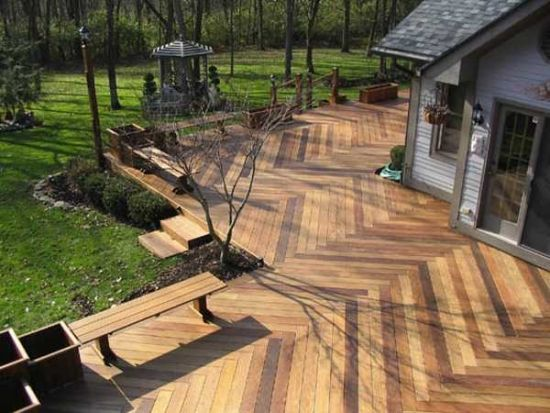 fishbone terrace דקים ופרגולות Pinterest Terrassenbelag - terrassenbelage holz terrassendielen