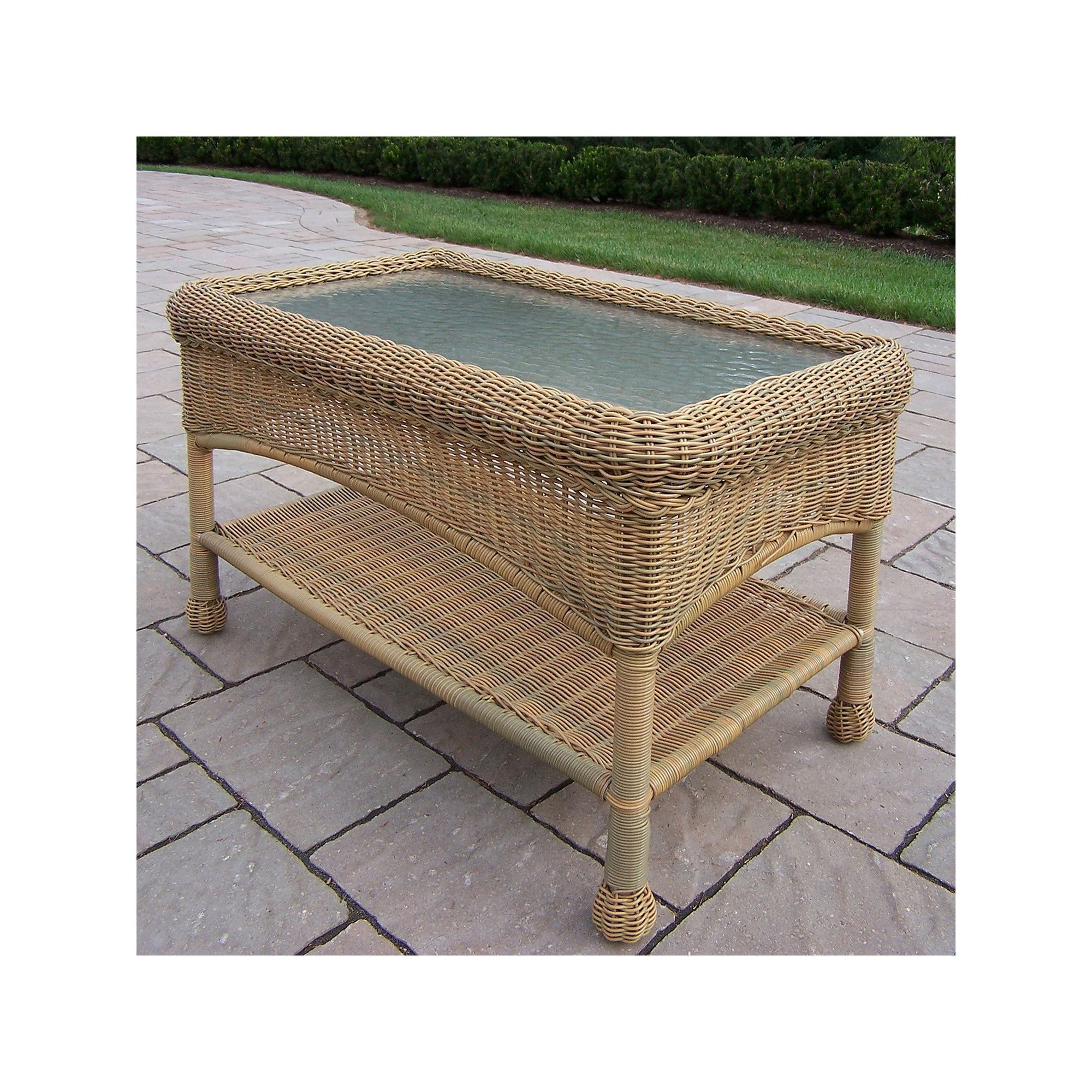 Resin Wicker Outdoor Coffee Table Other Clrs
