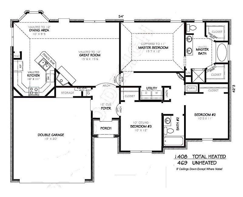 Plano de casa de 130 metros cuadrados arquitectura for Planos de casas de 24 metros cuadrados