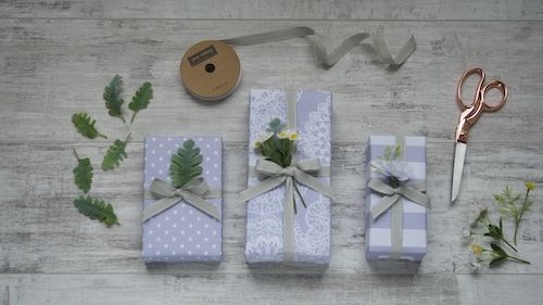 Jane Means Vintage lilac gift wrap