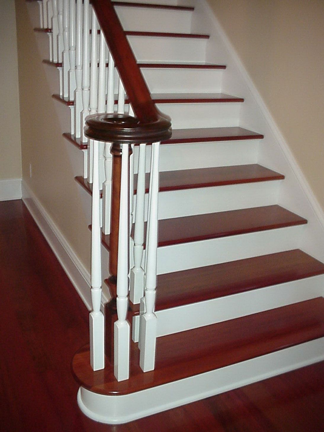 Solution For Your Home White Hardwood Steps Staircase
