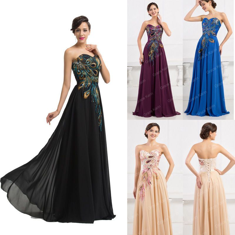 Plus Long Chiffon  Evening Prom Gown Formal Wedding Party Bridesmaid Dreseses