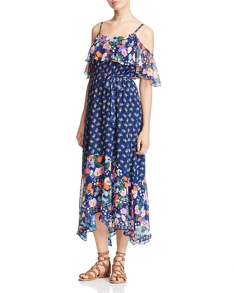 fae7b1838 Beltaine Floral Print Cold Shoulder Maxi Dress - 100% Bloomingdale's  Exclusive